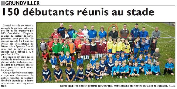 Participation à la journée nationale des débutants de l'équipe U7 de Saint-Jean-Rohrbach paru le 15/06/15 dans le Républicain Lorrain