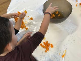 Atelier culinaire des maternelles : soupe de potiron