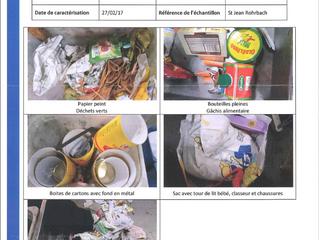 Bilan du contrôle d'un bac poubelle par le SYDEME