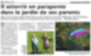 Un parapente attérit dans un jardin de Saint-Jean-Rohrbach paru le 05/08/16 dans le Républicain Lorrain