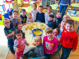 Reprise des ateliers culinaires à la maternelle
