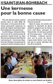 Kermesse du conseil de fabrique de Saint-Jean-Rohrbach paru le 09/05/15 dans le Républicain Lorrain