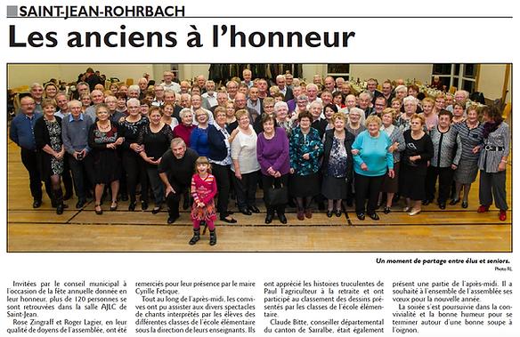 Repas des plus de 65 ans à Saint-Jean-Rohrbach paru le 21/12/15 dans le Républicain Lorrain