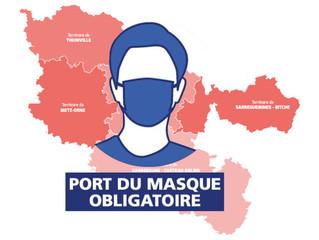 Port du masque obligatoire dans toute la Moselle à compter du 6 février 2021