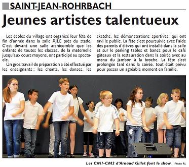 Fête de l'école de Saint-Jean-Rohrbach paru le 25/06/15 dans le Républicain Lorrain