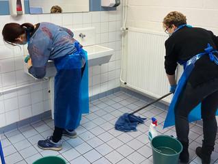 Nettoyage complet de la salle AJLC
