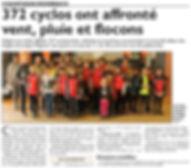 Les singles de la ligne Maginot organisés par le Cyclo-Club de Saint-Jean-Rohrbach paru le 26/04/16 dans le Républicain Lorrain