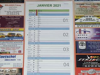 Vente des calendriers de l'US Saint-Jean