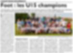 Assemblée générale de l'Union Sportive de Saint-Jean-Rohrbach paru le 14/06/15 dans le Républicain Lorrain