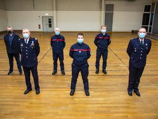 Remise de diplômes et décorations chez les sapeurs-pompiers