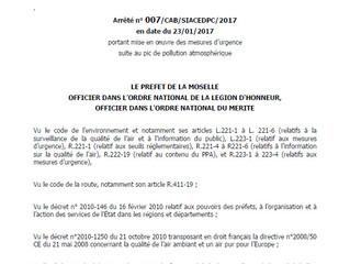 IMPORTANT : Levée de l'arrêté préfectoral suite à pic de pollution