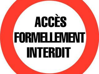 Interdiction d'accès aux plans d'eau et lacs publics
