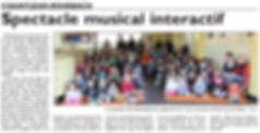 Spectacle musical à l'école de Saint-Jean-Rohrbach paru le 02/04/15 dans le Républicain Lorrain