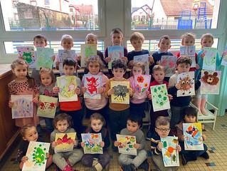 Les maternelles participent à un concours national de dessin