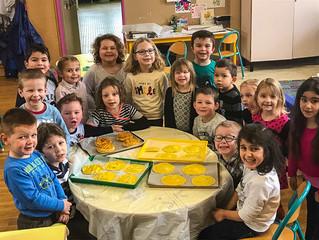 Atelier galette à la maternelle