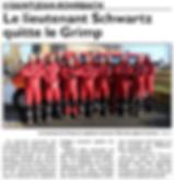 Le lieutenant Pierre SCHWARTZ des sapeurs-pompiers de Saint-Jean-Rohrbach quitte le GRIMP paru le 13/12/15 dans le Républicain Lorrain
