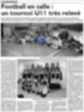Participation à un tournoi en salle de l'équipe des U11 de Saint-Jean-Rohrbach paru le 18/02/16 dans le Républicain Lorrain