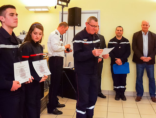 Les sapeurs-pompiers fêtent sainte Barbe