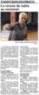 Belle saison pour les passionnés de la raquette de Saint-Jean-Rohrbach paru le 06/06/15 dans le Républicain Lorrain