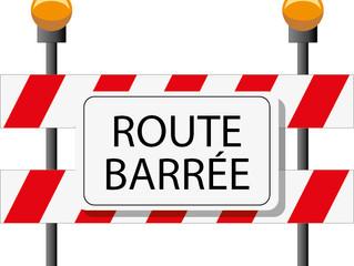 Route barrée entre Saint-Jean et Leyviller