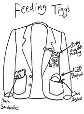 Chapter 5 - blazer pockets crammed with