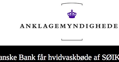 Bot på 12,5 millioner danske kroner for overtredelse av hvitvaskingsloven