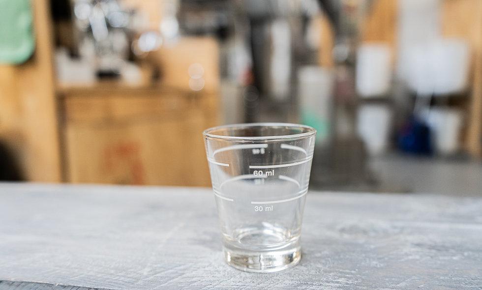 Espresso measuring glass 30 ml 60ml