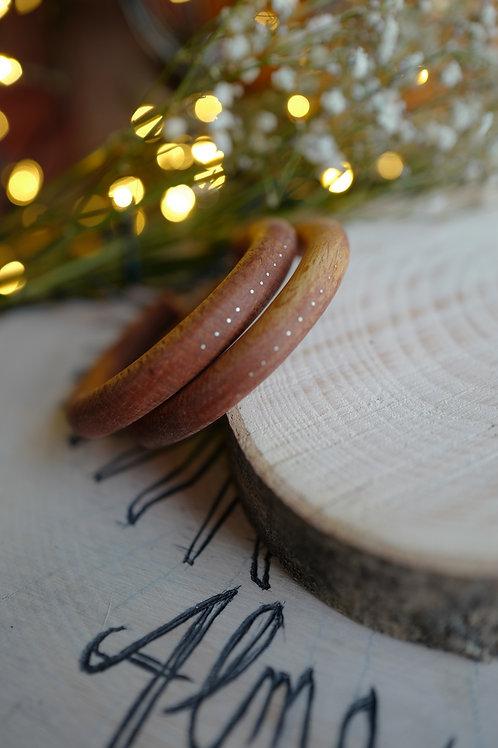 Boucles en bois et argent
