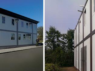 Двухэтажное модульное здание без «лишнего» перекрытия