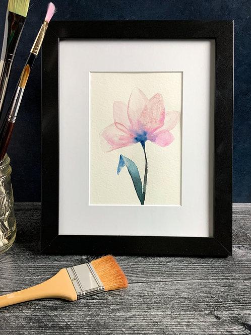 Single Flower - Original Watercolor