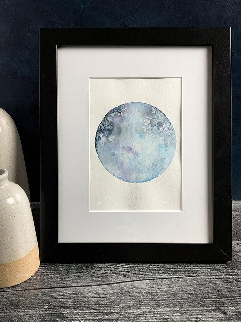 Blue Moon - Original Watercolor