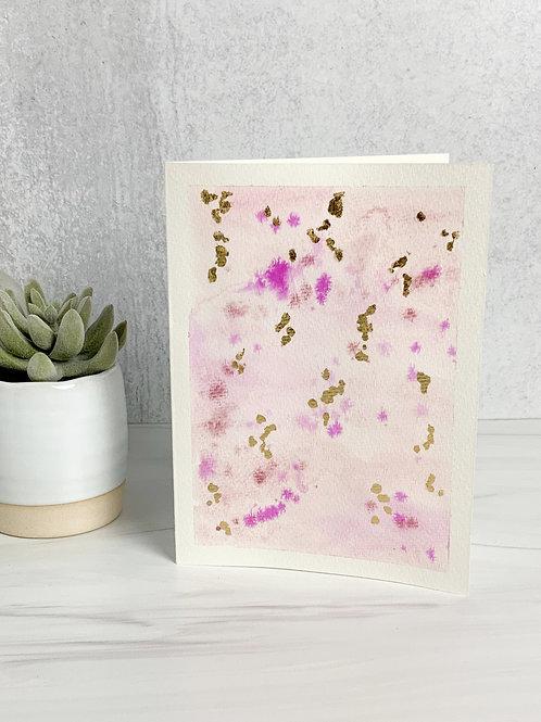 Pink & Gold Valentine's Day Card