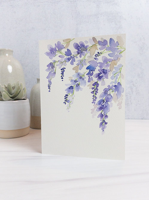 Wisteria Greeting Card