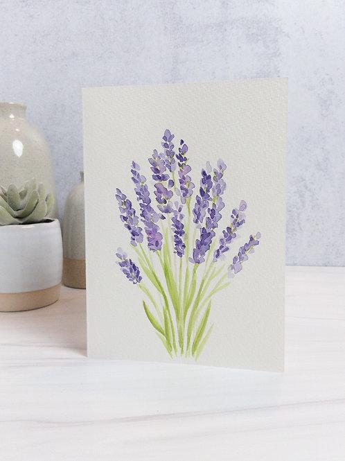 Lavendar Bunch Greeting Card