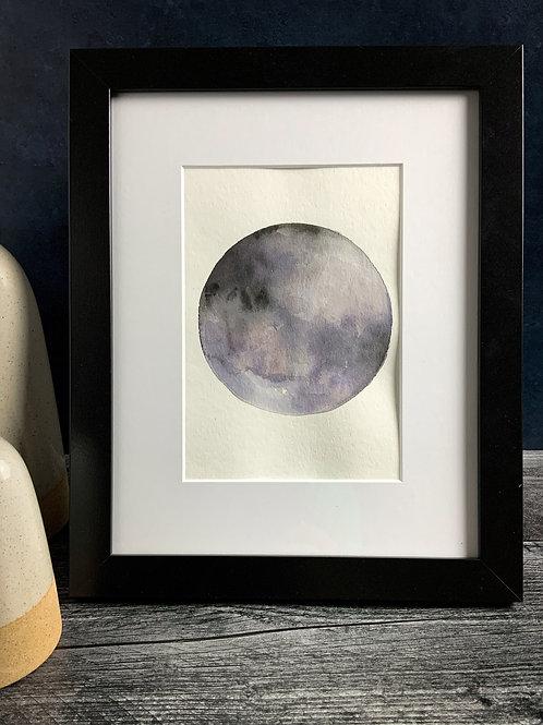 Dark Moon - Original Watercolor