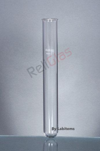Test Tubes, Boro 33 exp. glass, Round Bottom