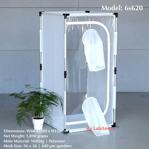 Aluminum framed 30x30x30cm insect rearing cage