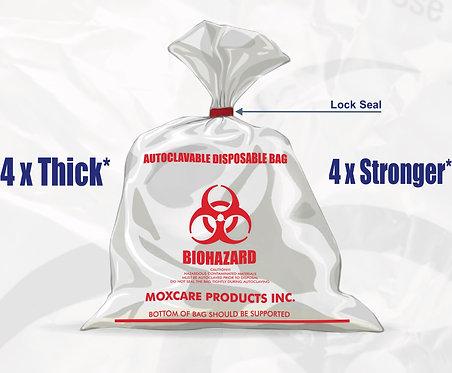 Autoclavable biohazard disposable bags