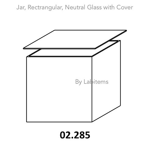 Jars, Rectangular, Museum, Neutral glass with cover (Chromatography Tank)