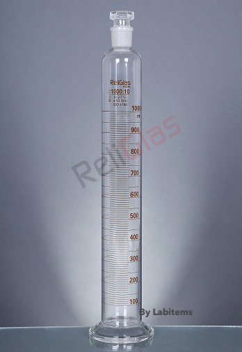 Measuring Cylinders with interchangeable stopper, Round Base
