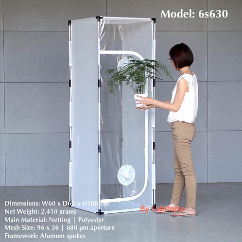 Clear plastic insect rearing cage