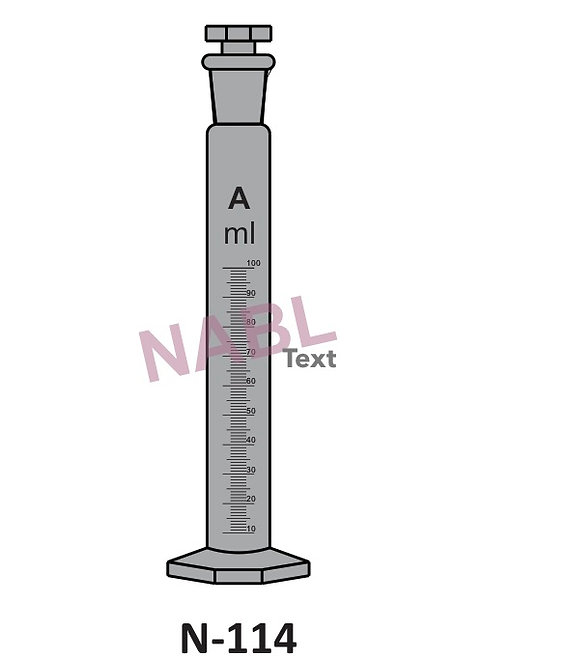 Measuring Cylinder, AMBER with interchangeable stopper Hexagon
