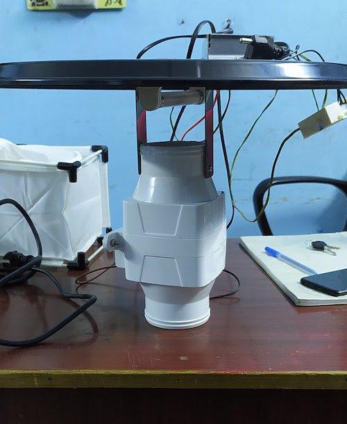 UV light trap on CDC model with Photoswitch LI-MR-47a
