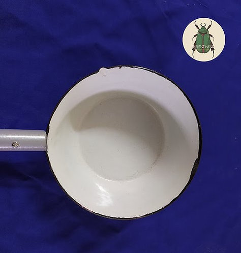 Larval Collection Enamel Dipper Fixed Handle - LI-MR-23