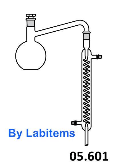 Distillation apparatus with Grahm Condensor