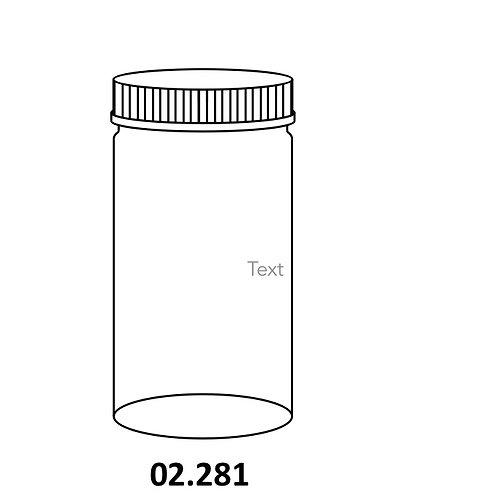 Culture Jars (Specimen)with Polypropylene screw cap and Rubber liner, suitable for Culture, Autoclaveable