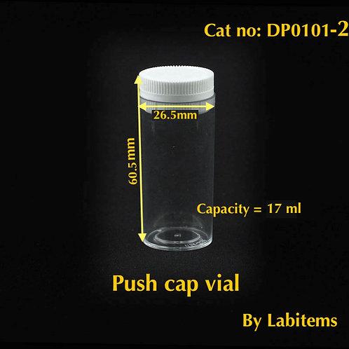 PS Plastic Vial (Ø31 x H72 mm, 28 ml)