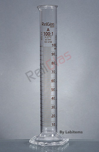 01.103 Measuring Cylinders with spout, Hexagonal Base