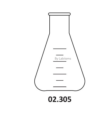 02.305 Flasks, Erlenmeyer, Conical with Narrow mouth
