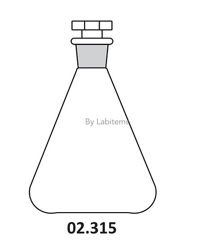 Flasks Erlenmeyer, Conical with interchangeable stopper